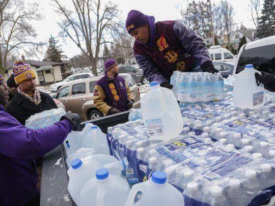 The Omega Psi Phi Turned Up & Turned Out In Flint Michigan Helping Residents With Clean Drinking Water