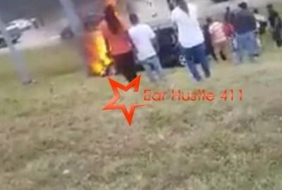 A Woman Makes An Emotional Plea To God Pleading The Blood Of Jesus As Stranger Is Trapped In Burning Car, Watch What Happens Next