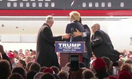 Watch: Secret Service Protects Donald Trump After Man Throws Object During Rally In Ohio