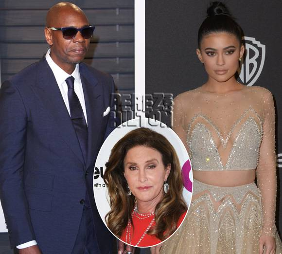 Dave Chappell Roasts Caitlyn Jenner As His Daughter Kylie Sits Unamused In The Fron Row