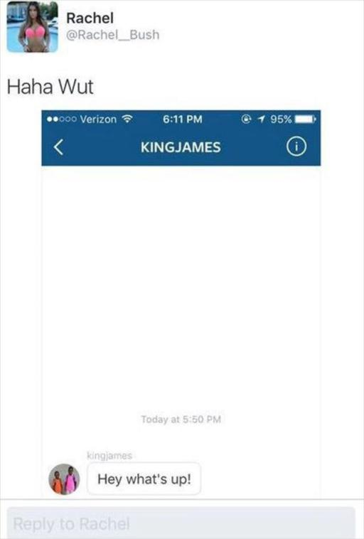 Lebron James Caught Direct Messaging Another NBA Player's Girlfriend