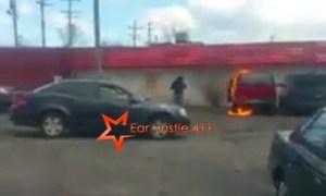 woman set car on fire 3