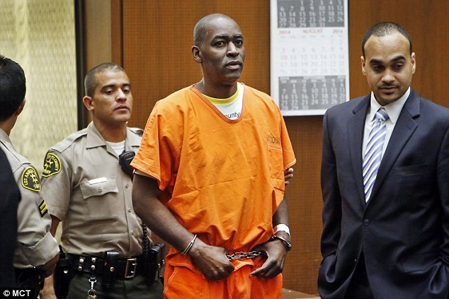 Actor Michael Jace, who is charged with murder in the shooting death of his wife in May, enters Los Angeles Superior courtroom to enter a not guilty plea. Photo Credit: DailyMail