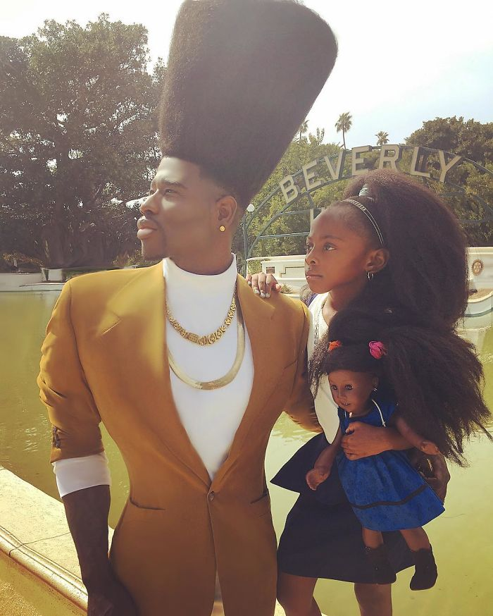 Father & Daughter Takes Social Media By Storm With Their Magnificent & Enormous Natural Hairdos