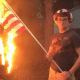 An Illinois man, Bryton Mellott, was arrested for posting pictures of himself burning an American flag on the Fourth of July weekend. Photo Credit: Facebook