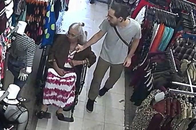 Man Sticks His Hands Down Elderly Lady's Shirt & Steals Her Rent Money Out Of Her Bra