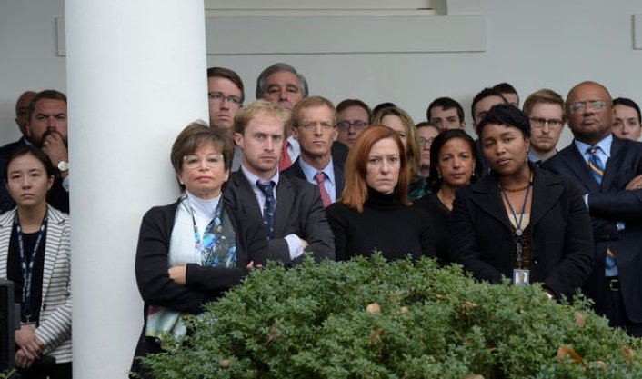 Check Out The Faces Of White House Staffers After Obama Spoke On Trumps Win