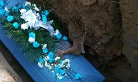 Family Disgusted During Funeral When A Dead Persons Foot Emerged In Their Grandfather's Grave
