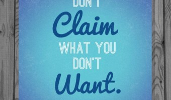 Don't Claim What You Don't Want