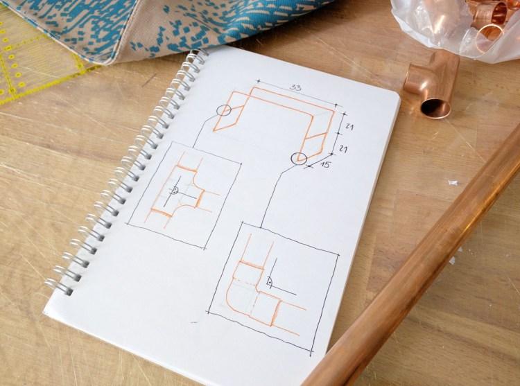 diy kupferrohr zeitschriftenst nder early birdy. Black Bedroom Furniture Sets. Home Design Ideas