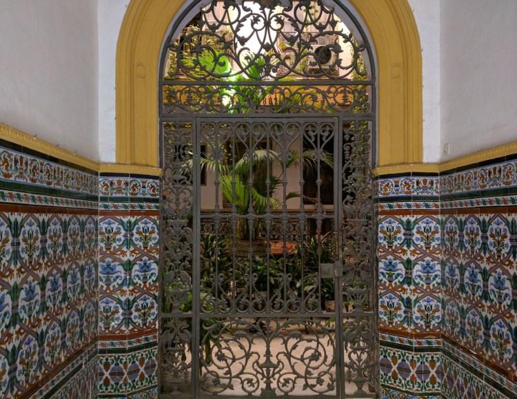 Altstadt Sevilla Hoftür