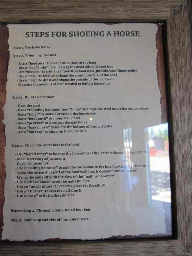 shoeing a horse instruction