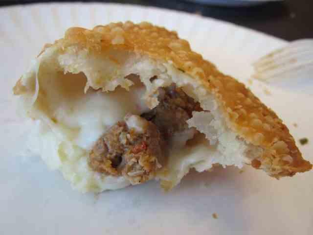 cheese + chorizo empanada
