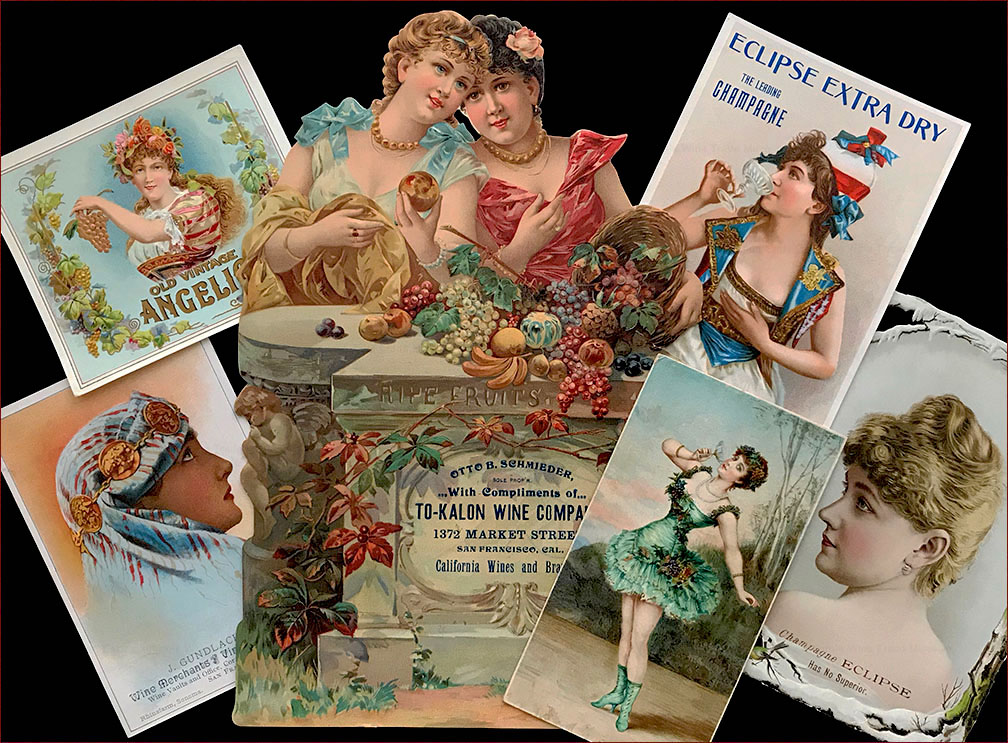 Sirens & Belles in wine ephemera