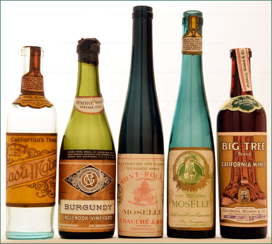 Early California wines-half bottle