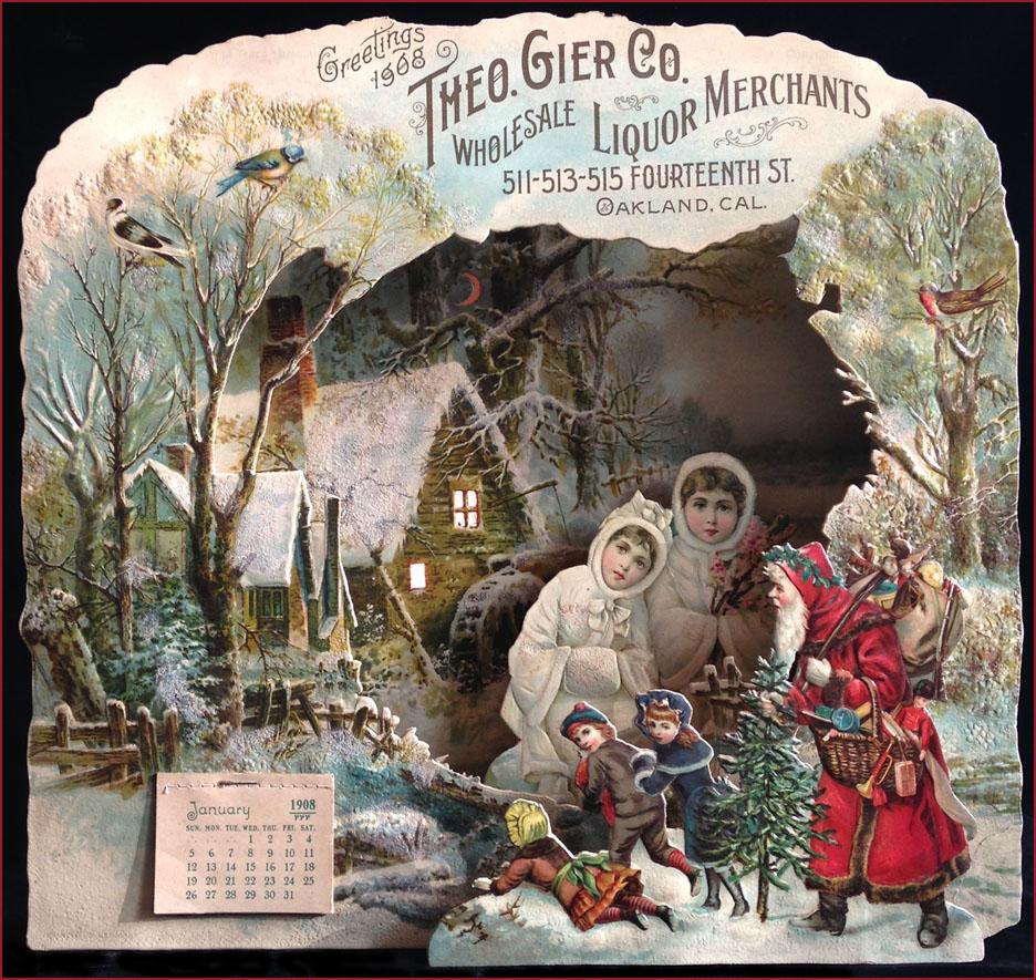 Theo Gier 1908 die cut calendar