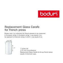 Bodum Spare Beaker, Glass, (Various Sizes)