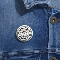 White Badge PRIDE Custom Pin Buttons