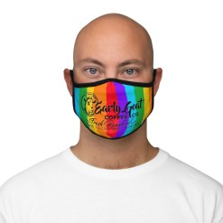 """""""Fresh Roasted"""" PRIDE Fitted Polyester Face Mask"""