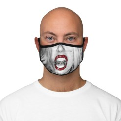 """""""BORN THIS WAY"""" 10th Anniversary Fitted Polyester Face Mask"""