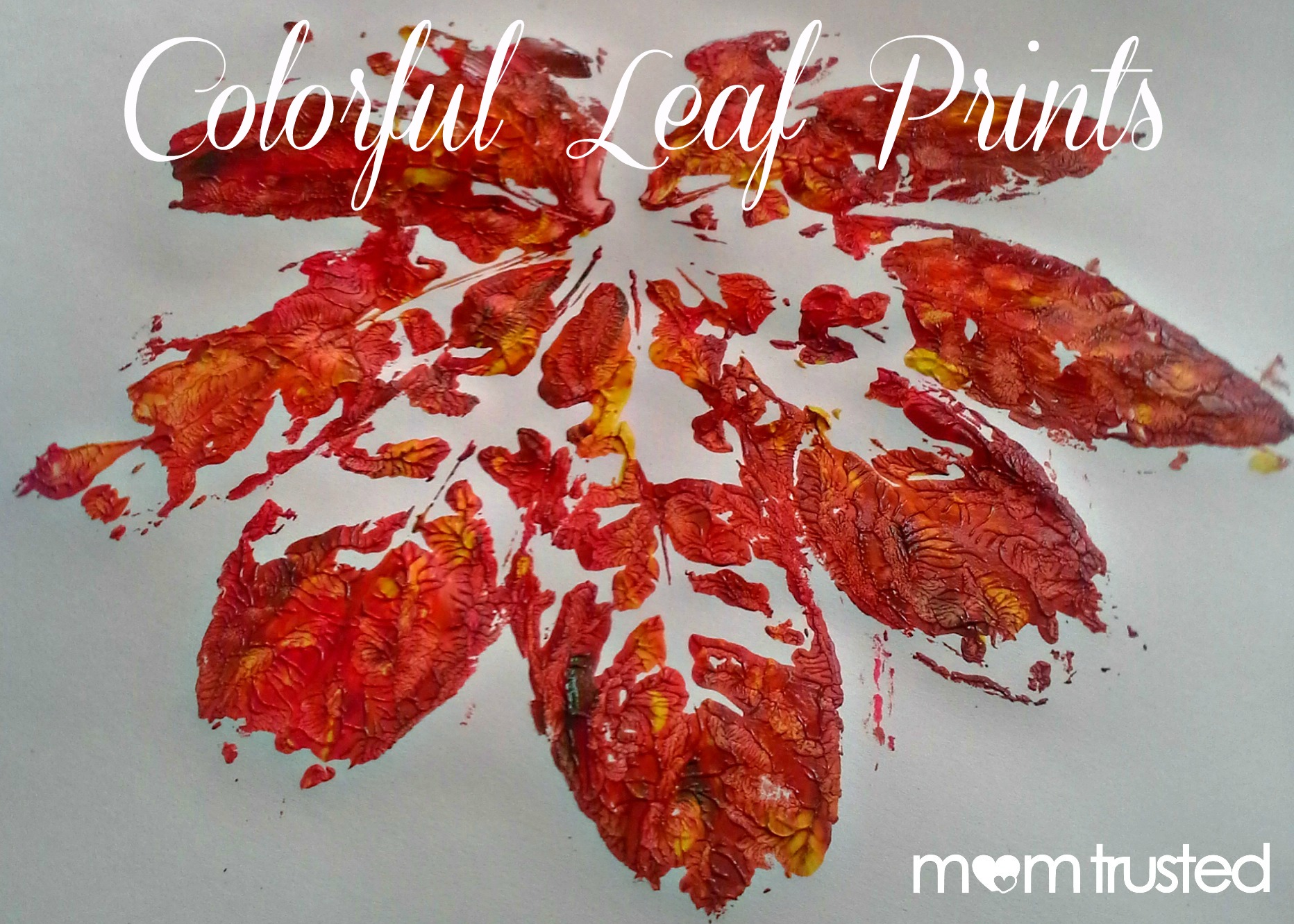 Colorful Leaf Printmaking Project For Kids