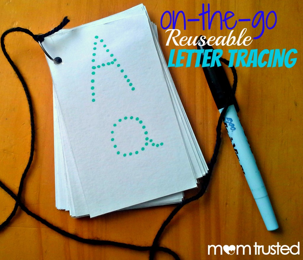 On The Go Reusable Letter Tracing