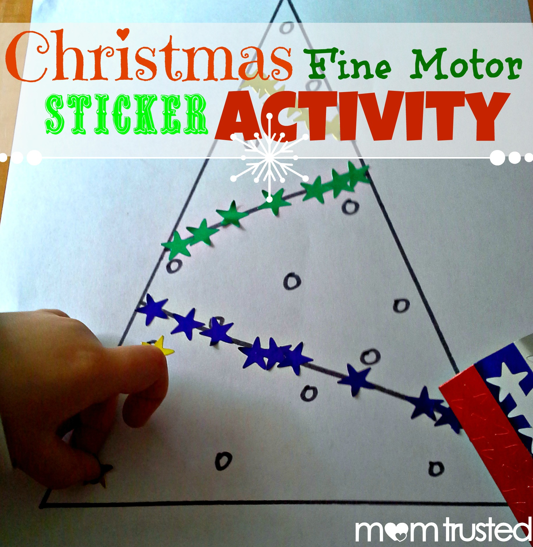 Christmas Fine Motor Sticker Activity