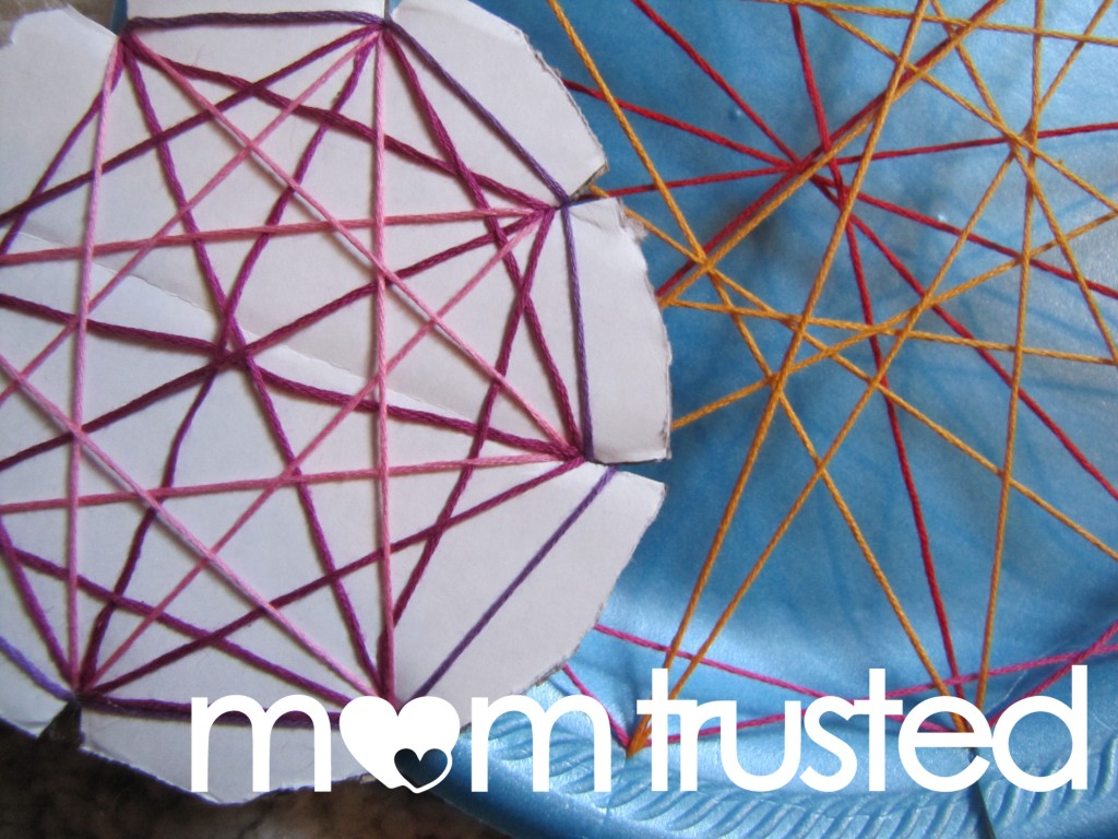 Easy Geometric String Art For Preschoolers