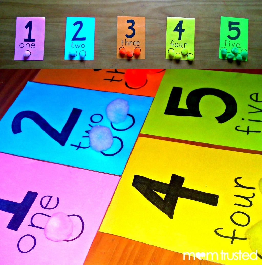 Preschool Counting Activity With Pom Pomspreschool