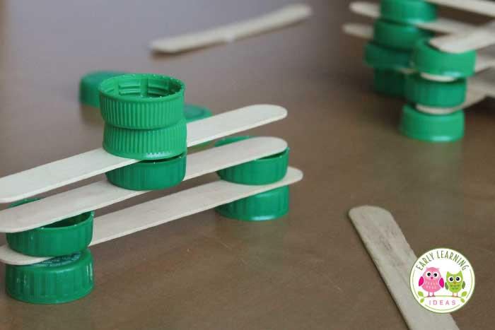 using plastic bottle caps in learning