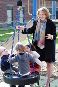 Dr. Megan McClelland hits the playground