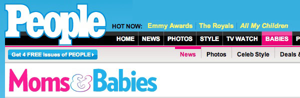 People Magazine Celebrity Baby Blog header
