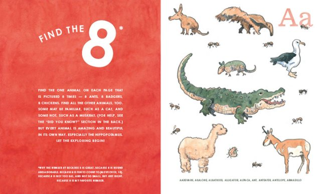 8: An Animal Alphabet by Elisha Cooper counting books for preschool