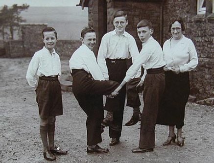 Wyresdale dancers posing during a practice of Greensleaves or Kick my A**e.