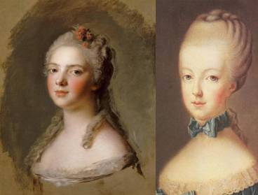 Princess Marie Adélaïde of Savoy, married in 1697 on her 12th birthday; and Marie Antoinette, married in 1770 when she was 14.