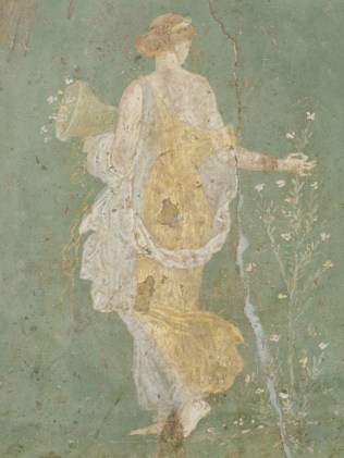 Flora in a 1st century Roman fresco found in Stabiae, near Pompeii.