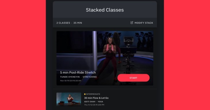 Peloton's New 'Stacked Classes' Let You Make Custom Workouts
