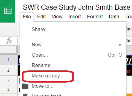 How Save Your Own Google Sheet