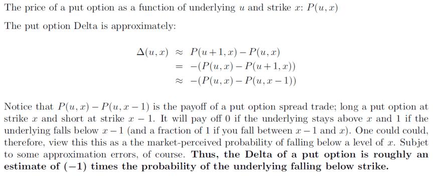 Delta vs Probabilities