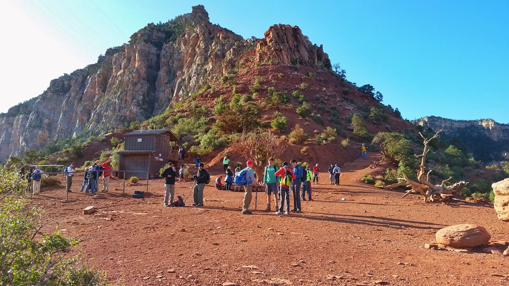 Tip Off on the South Kaibab Trail - Turnoff to Tonto Trail