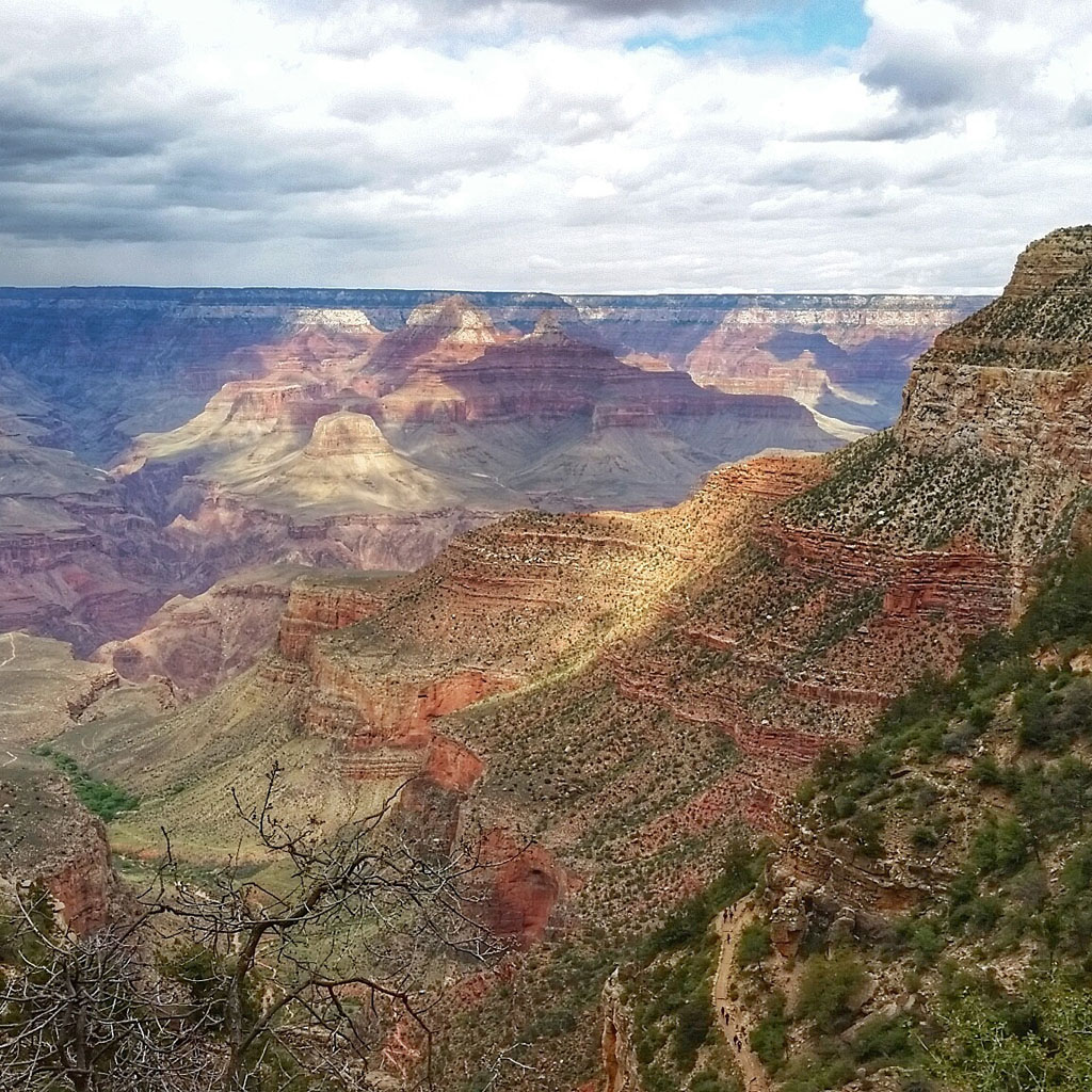 Views from the Bright Angel Trail, Grand Canyon