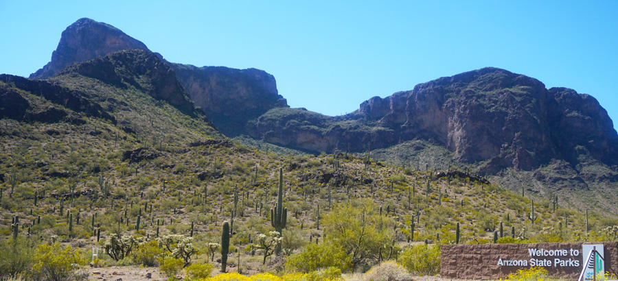 Entry to Picacho Peak State Park