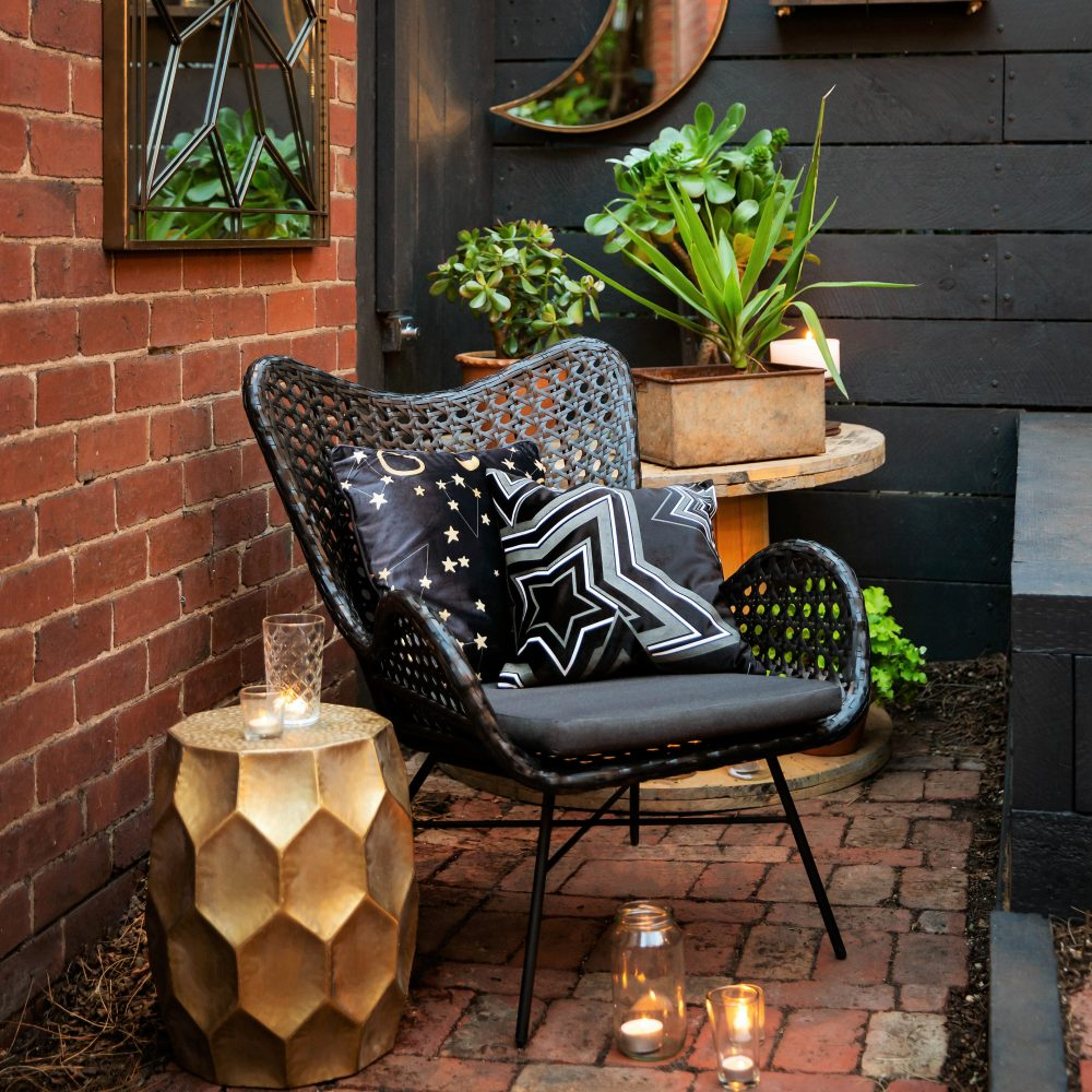 Dress up your deck with the Woven Wicker