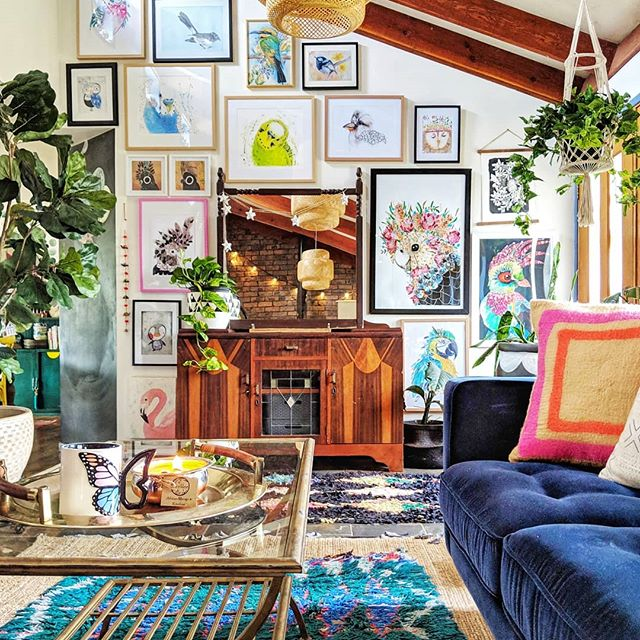 The Hectic Eclectic's Boho Maximalism living room