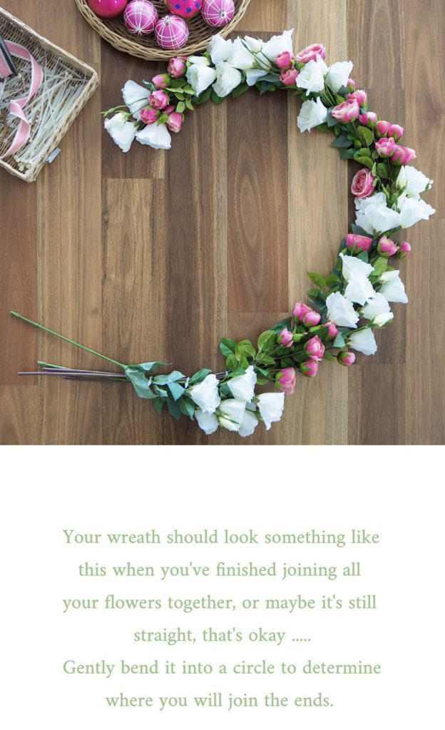 Create a Floral Christmas Wreath step 4