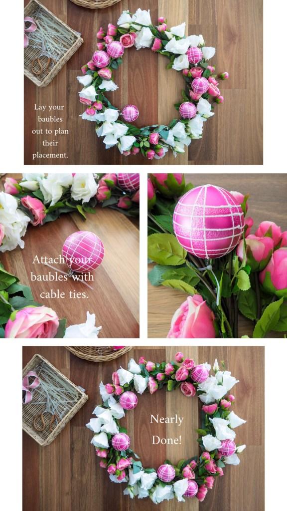 Create a Floral Christmas Wreath step 6