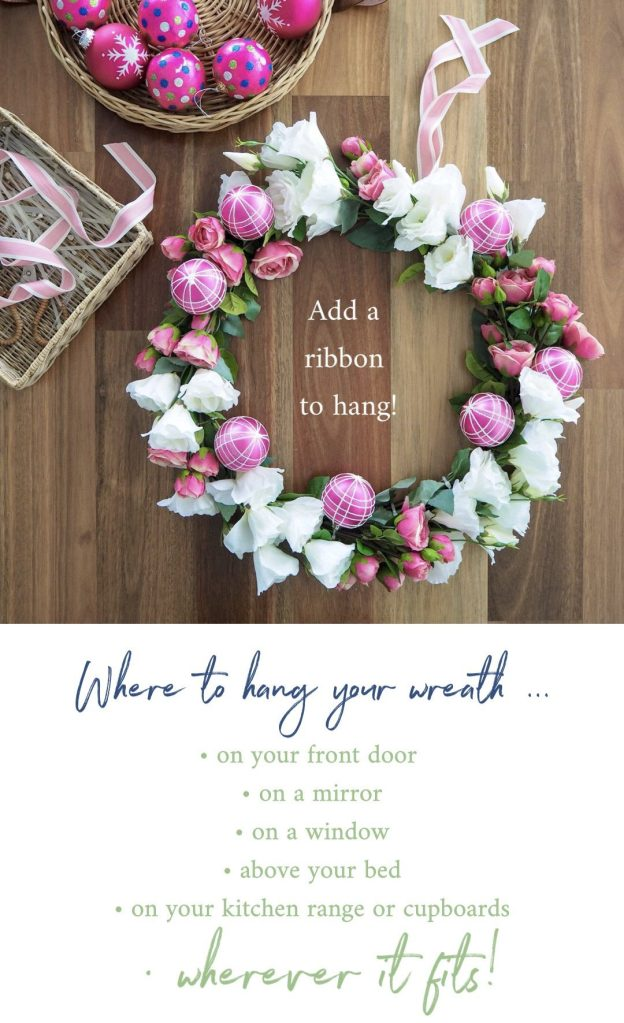 Create a Floral Christmas Wreath step 7