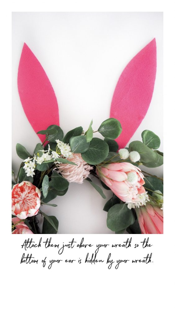 Decorate Your Easter Wreaths bunny ears