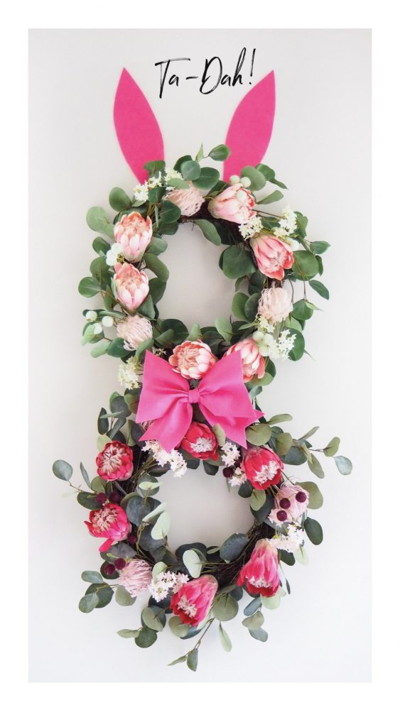 Decorate Your Easter Wreaths ta da