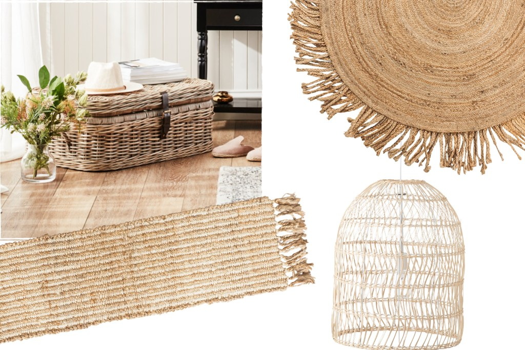 villa interior design with rattan